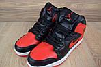 Мужские зимние кроссовки Nike Air Jordan (красно-черные), фото 4