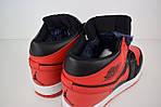 Мужские зимние кроссовки Nike Air Jordan (красно-черные), фото 6