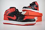 Мужские зимние кроссовки Nike Air Jordan (красно-черные), фото 7