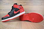 Мужские зимние кроссовки Nike Air Jordan (красно-черные), фото 9