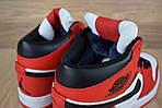 Мужские зимние кроссовки Nike Air Jordan (бело-красные), фото 2