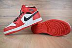Мужские зимние кроссовки Nike Air Jordan (бело-красные), фото 5