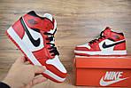 Мужские зимние кроссовки Nike Air Jordan (бело-красные), фото 6