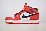 Мужские зимние кроссовки Nike Air Jordan (бело-красные), фото 7