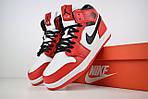 Мужские зимние кроссовки Nike Air Jordan (бело-красные), фото 8