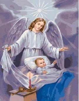 Рисование по номерам Ангел-хранитель (BK-GX4861) 40 х 50 см [Без коробки]