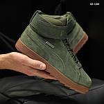 Мужские зимние кроссовки Puma Suede (зеленые), фото 2