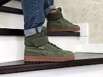 Мужские зимние кроссовки Puma Suede (зеленые), фото 3