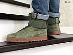 Мужские зимние кроссовки Puma Suede (зеленые), фото 8