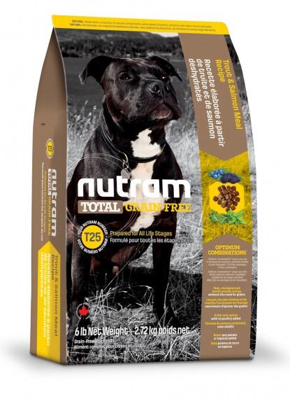 Сухой беззерновой корм Nutram для собак с лососем и форелью 11.3КГ