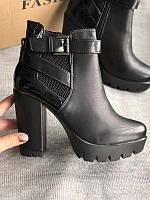 Ботинки, ботильоны на высоком каблуке размеры 36,37,41