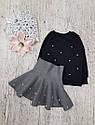 Детский теплый костюм с серой юбкой на рост 1,5-7 лет, фото 6