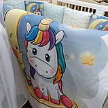 НАБОР! Кроватка для новородженного , постельный набор , матрас, комод пеленатор, фото 8