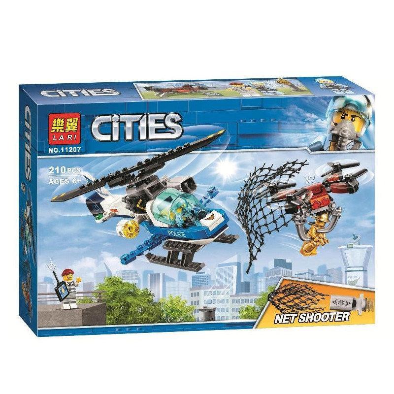 """Конструктор Bela (Lari) 11207 City """"Воздушная полиция: Погоня дронов"""" 210 деталей. Аналог LEGO City 60207"""