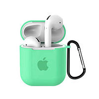Чехол для AirPods/AirPods 2 silicone case with Apple Spearmint