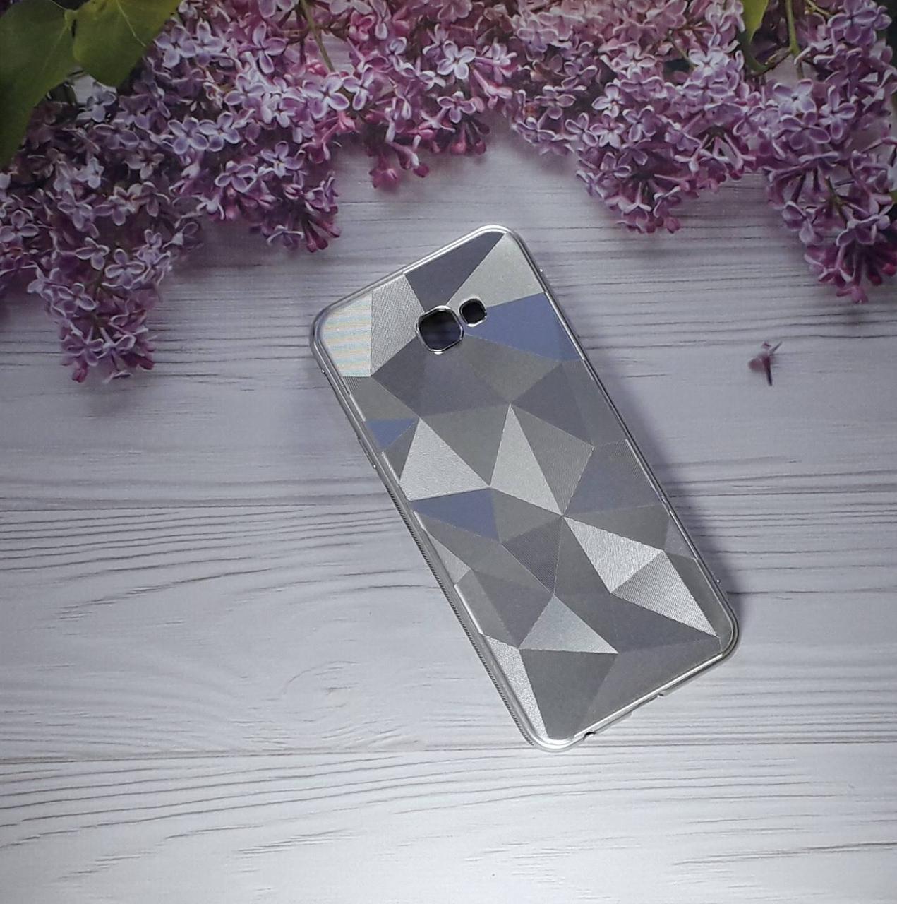 Чехол накладка Rhombus на Samsung J4 Plus (2018), J415,  Gold