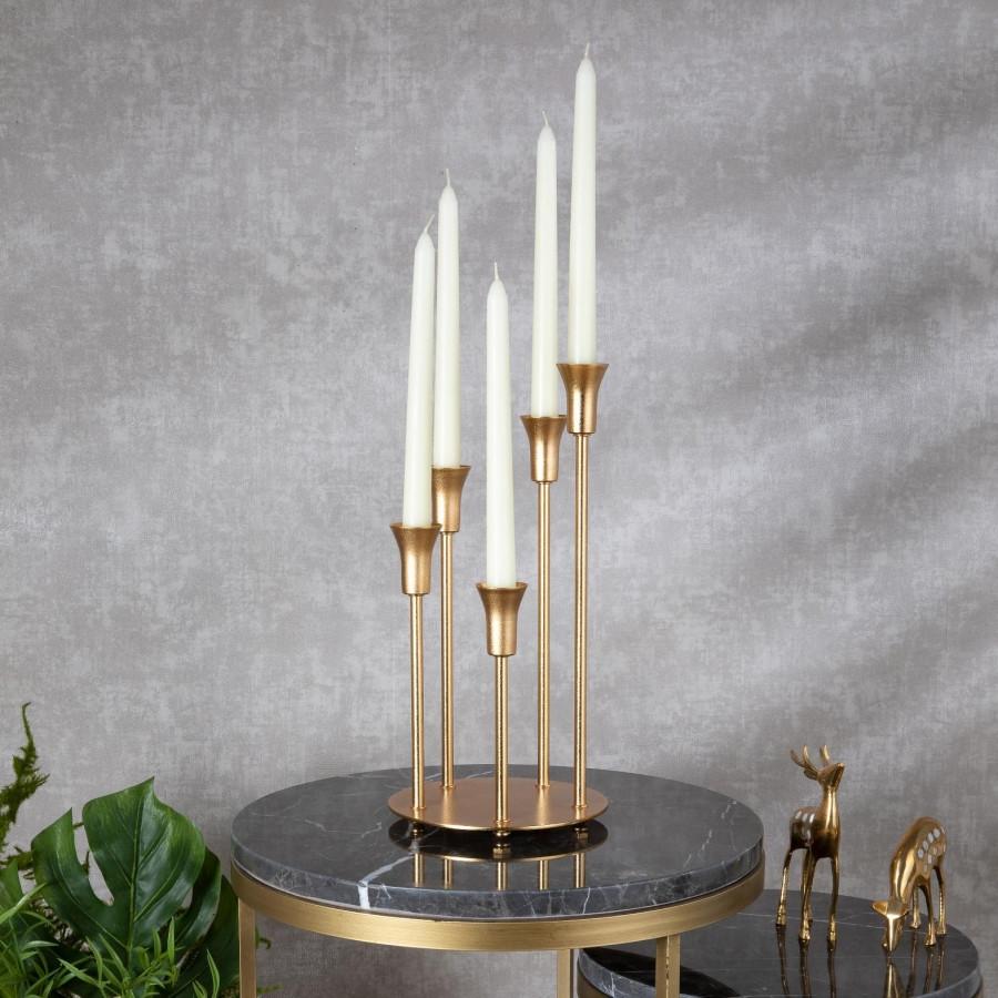 Подсвечник Doreline золотистый на 5 свечей