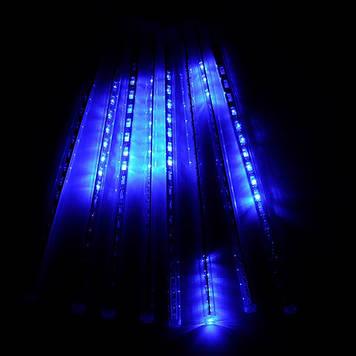Гирлянда Тающие сосульки, 8шт, 18 led, синяя, прозрачный провод, 30 см.