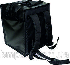 Терморюкзак для доставки пиццы ПВХ черный, фото 2