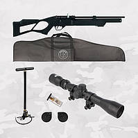 Hatsan Flash set, PCP пневматическая винтовка + комплект (Насос, Прицел 3-9х32, Чехол)