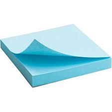 Блок бумаги с клейким слоем 75x75мм, 100л., Синий  2314-04-A