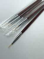Кисть-лайнер для рисования деревянная Starlet *1