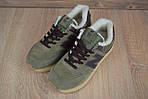 Мужские зимние кроссовки New Balance 574 (зелено-коричневые), фото 4