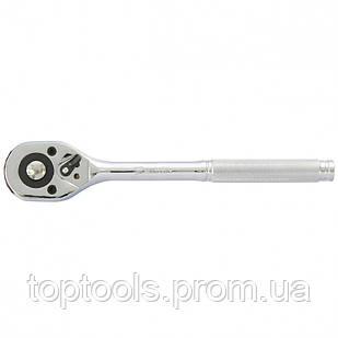 Ключ-трещотка 1/4 с переключателем, CrV, хромированный MTX Master