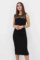 S, M, L / Вечірнє жіноче плаття з мереживом Verona, чорний