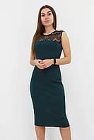 S, M, L / Вечірнє жіноче плаття з мереживом Verona, зелений