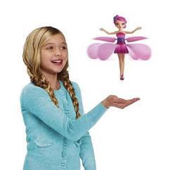 Волшебная летающая фея от руки с сенсором цвет розовый, фиолетовый и голубой