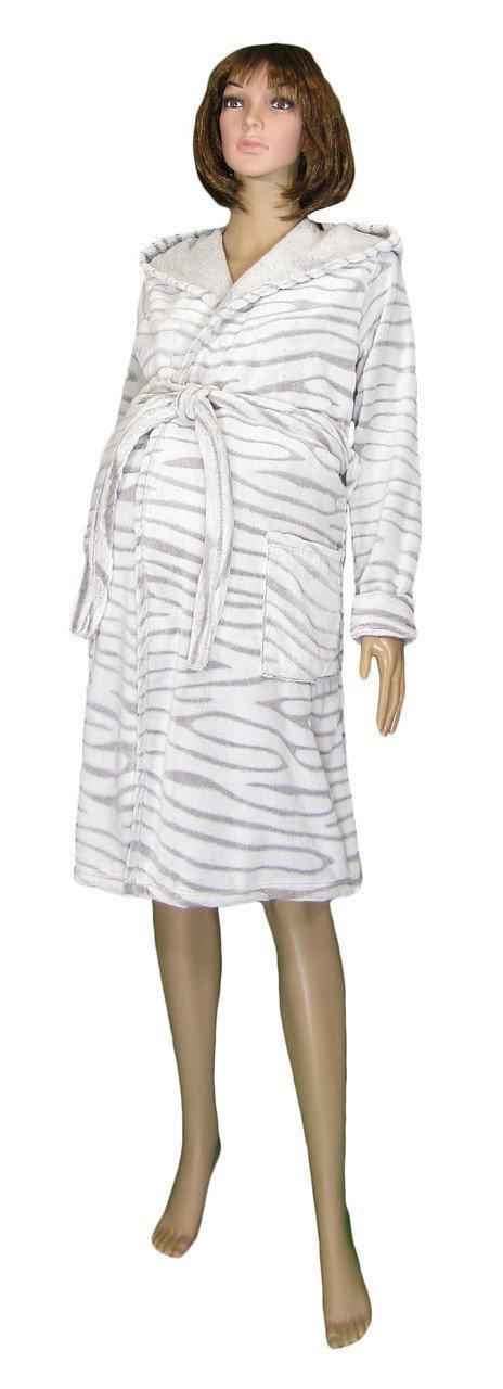 Халат махровый 03517-2 Софт / Шиншилла для беременных, в роддом большие размеры