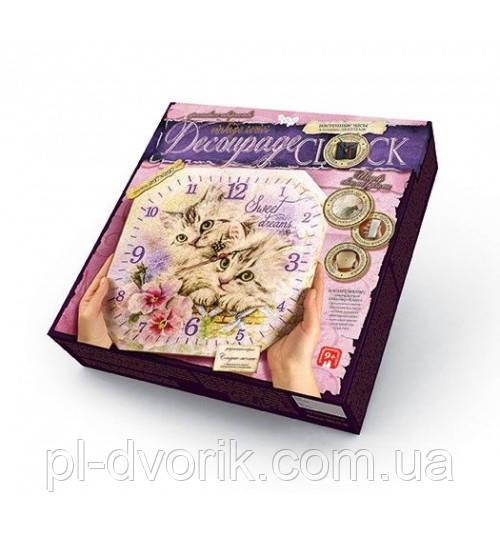 """Комплект Креативної Творчості """"Decoupage Clock"""" (10), DKС-01-06,07,08,09,10"""