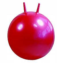 Дитячий м'яч для фітнесу з ріжками 45 см Profi червоно-рожевий (MS 0380)