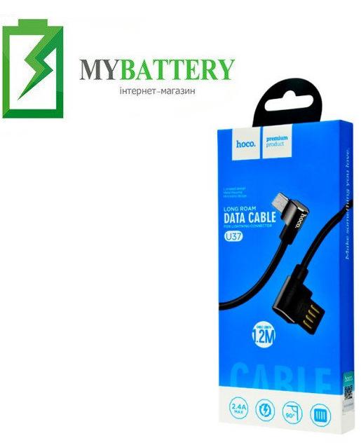 USB кабель Hoco U37 Long Roam Micro USB (1200mm), черный