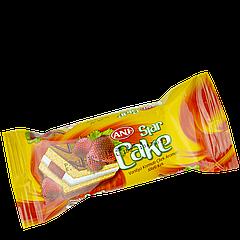 Кекс STAR с ванильно-клубничным кремом-желе  25 гр 1уп/24шт