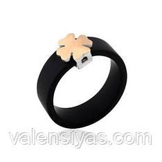 Каучуковое кольцо с золотом Клевер