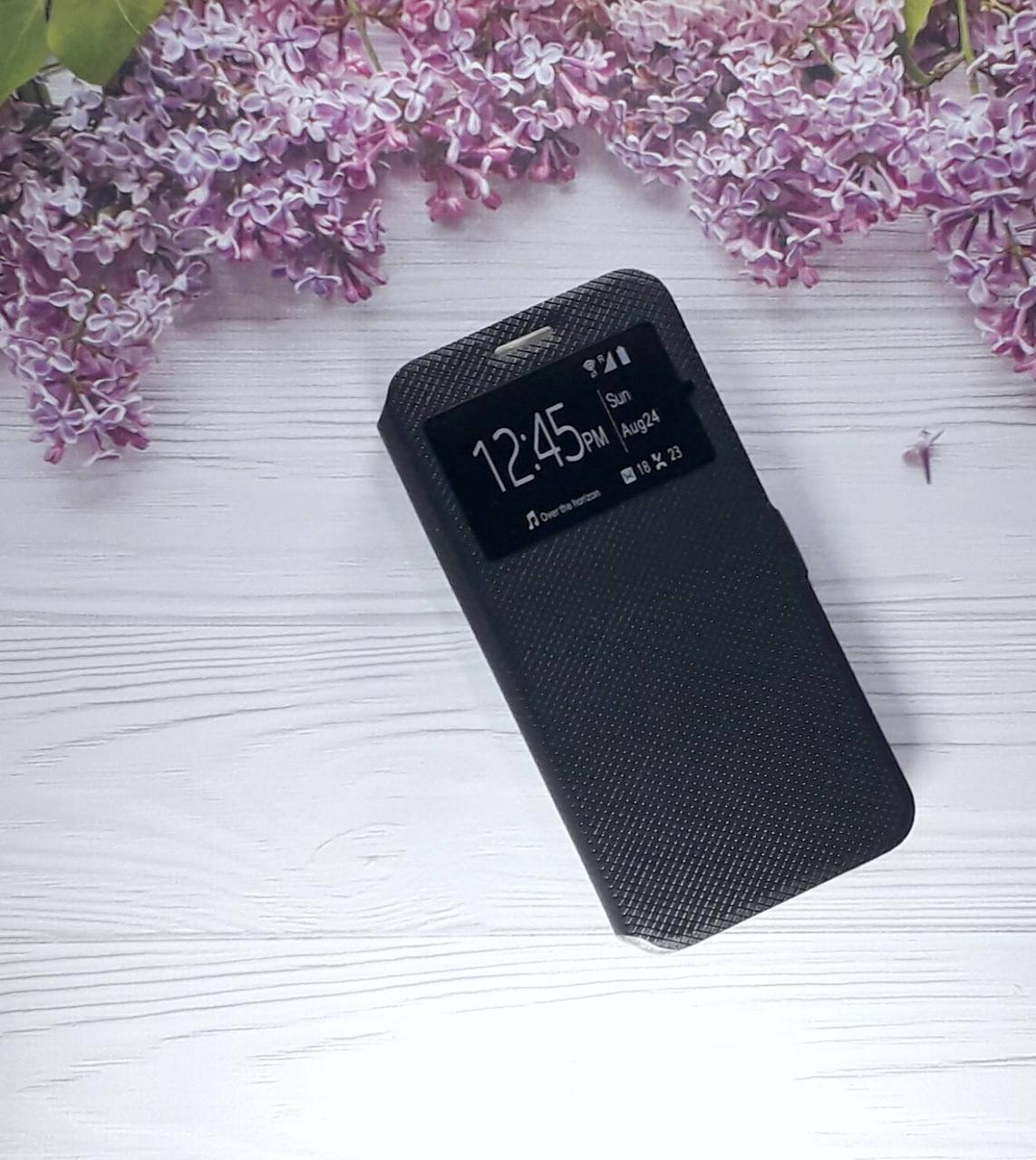 Чохол (книжка) з віконцем для Samsung J4 Plus (2018), J415, Black