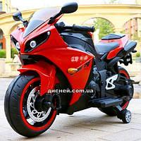 Детский мотоцикл M 4069 L-3 на аккумуляторе, мягкое сиденье, красный