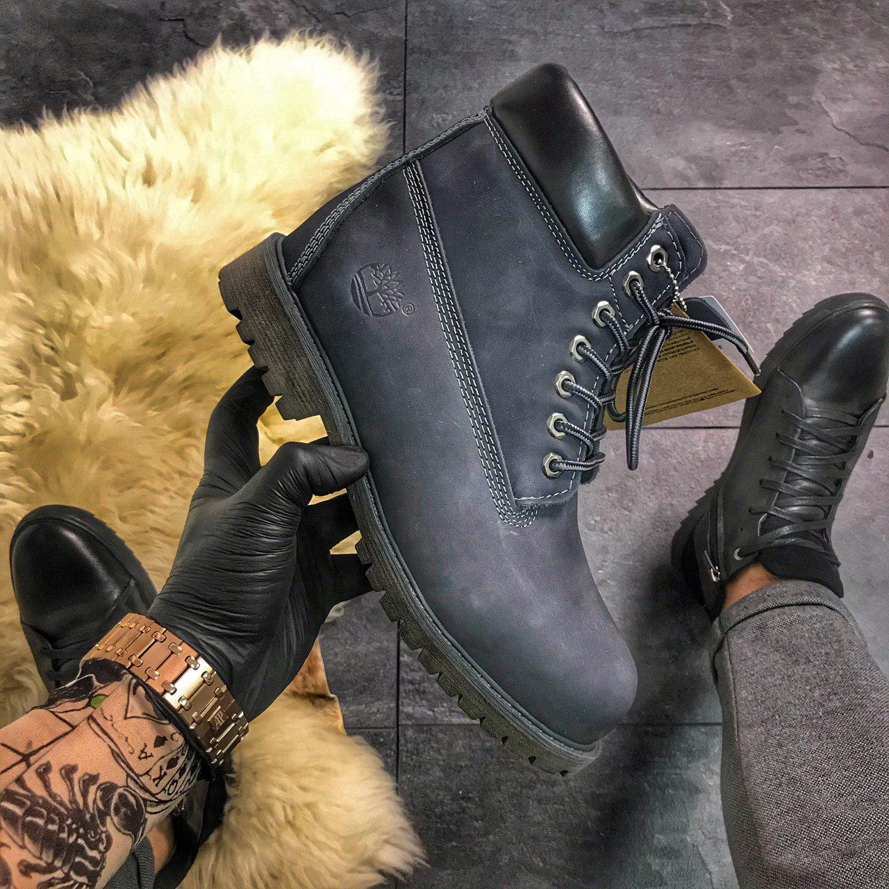 "Мужские ботинки в стиле Timberland ""Gray"" Thermo Premium"