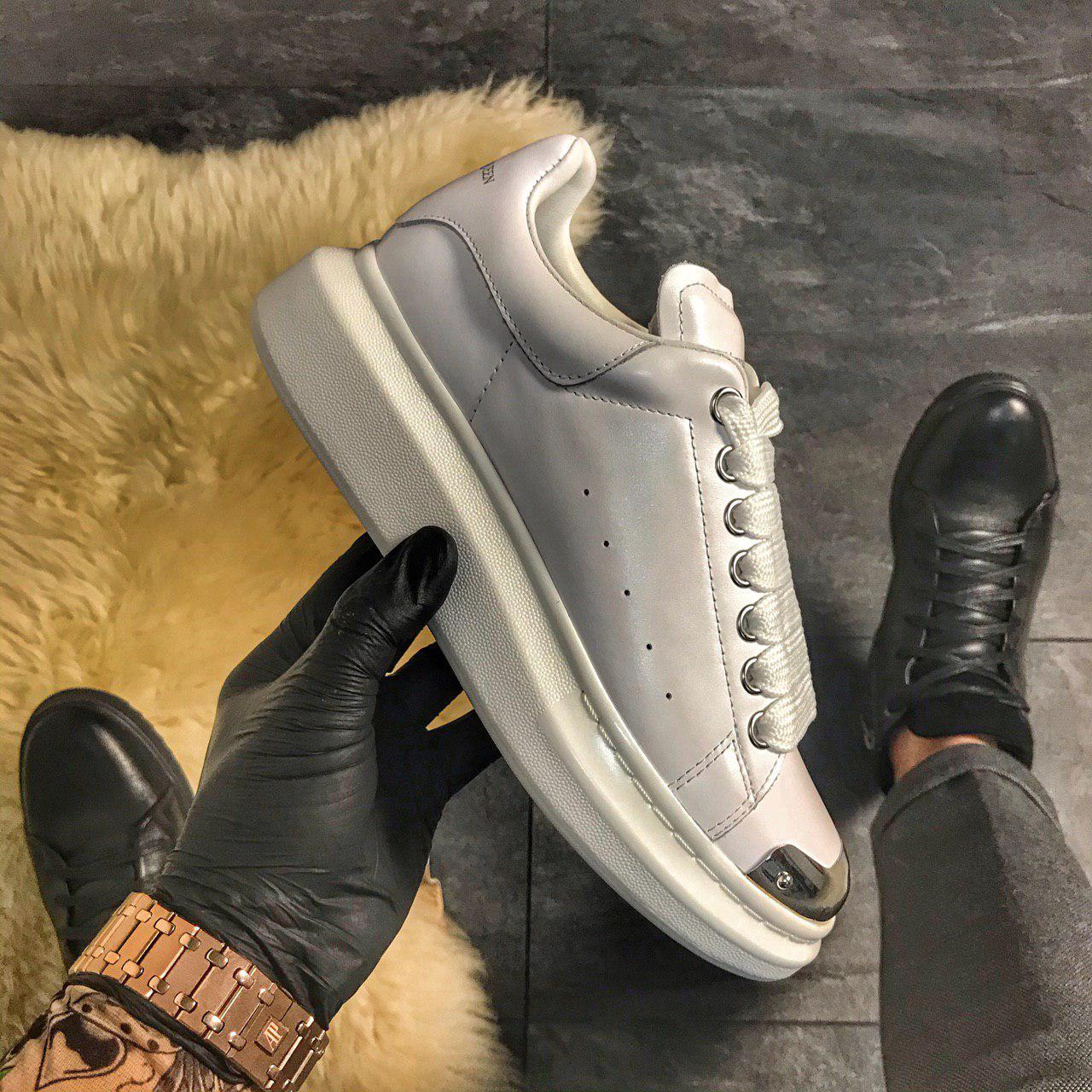 Alexander McQueen White Metal