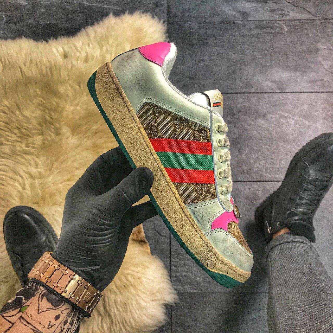 "Женские кроссовки в стиле Gucci Virtus Distressed ""Multicolored"""