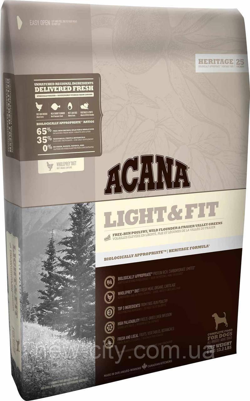 ACANA Light & Fit – биологически соответствующий корм для взрослых собак с избыточным весом старше 1 года 6 кг