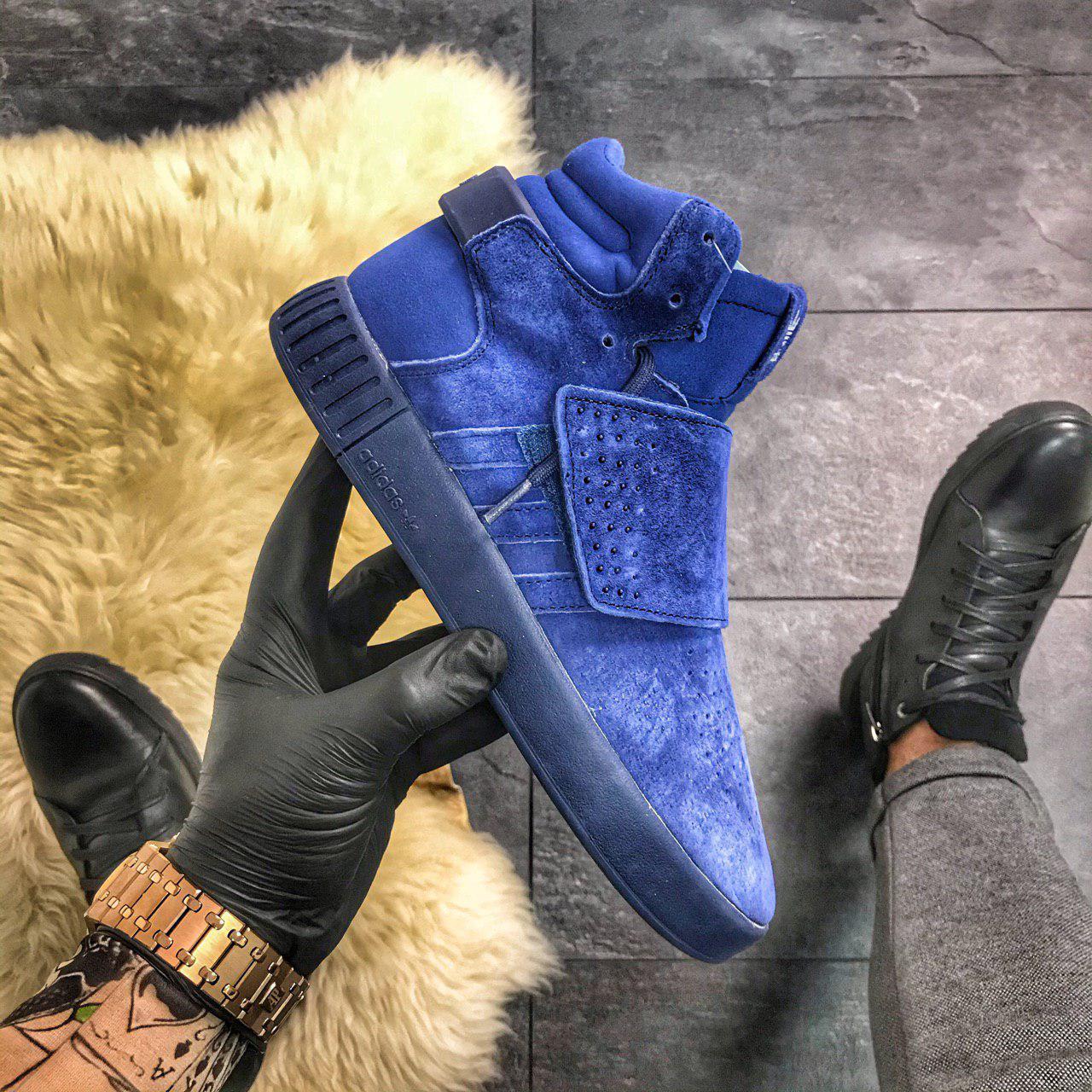 """Мужские кроссовки Adidas Tubular Invader Triple """"Blue"""""""