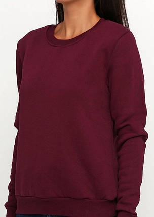 Свитшот женский , цвет бордо, фото 2