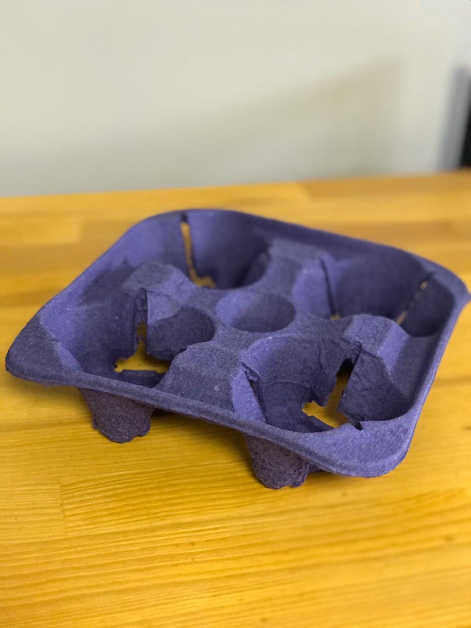 Подстаканник для 4-х стаканов фиолетовый