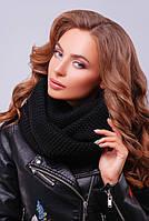 Снуд, хомут, платок вязаный, цвета в ассортименте. Женский шарф 299 черный