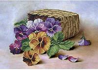 Схема для вышивки бисером Корзина с цветами