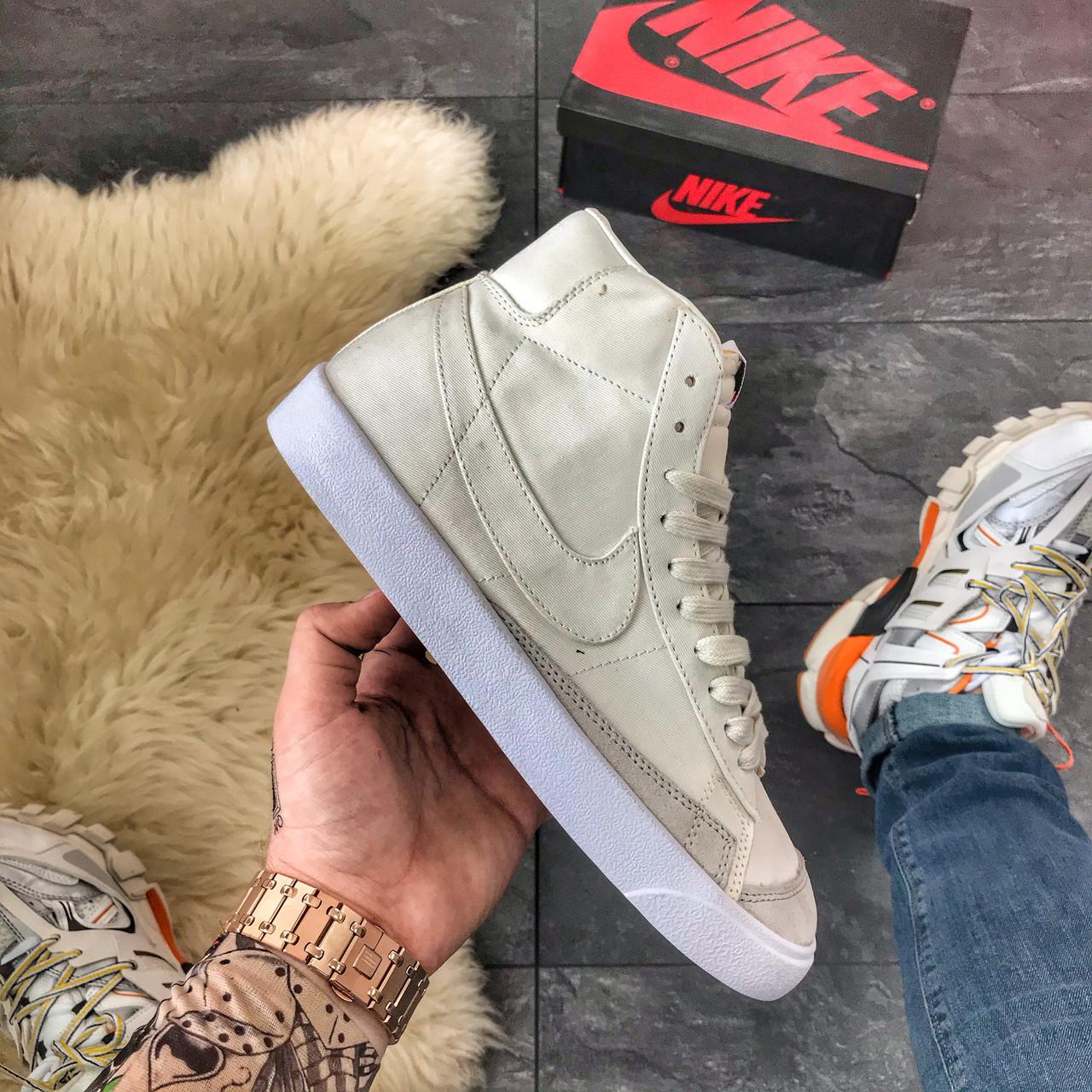 """Мужские кроссовки в стиле Nike Blazer Mid """"Grey"""""""