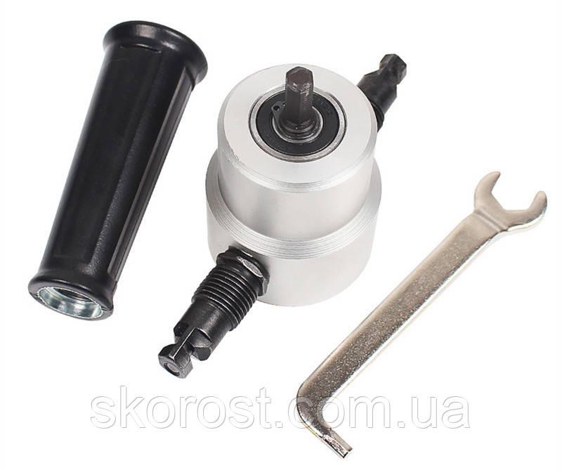 Насадка сверчок (ножницы) по металлу на шуруповерт-дрель